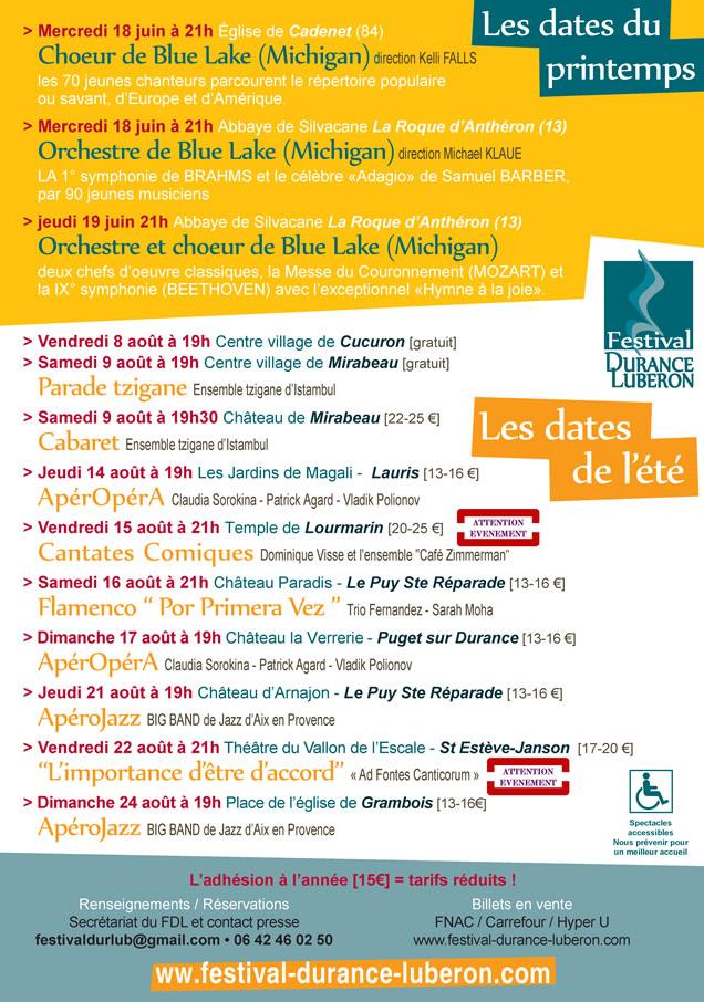Festival Durance Luberon 2014
