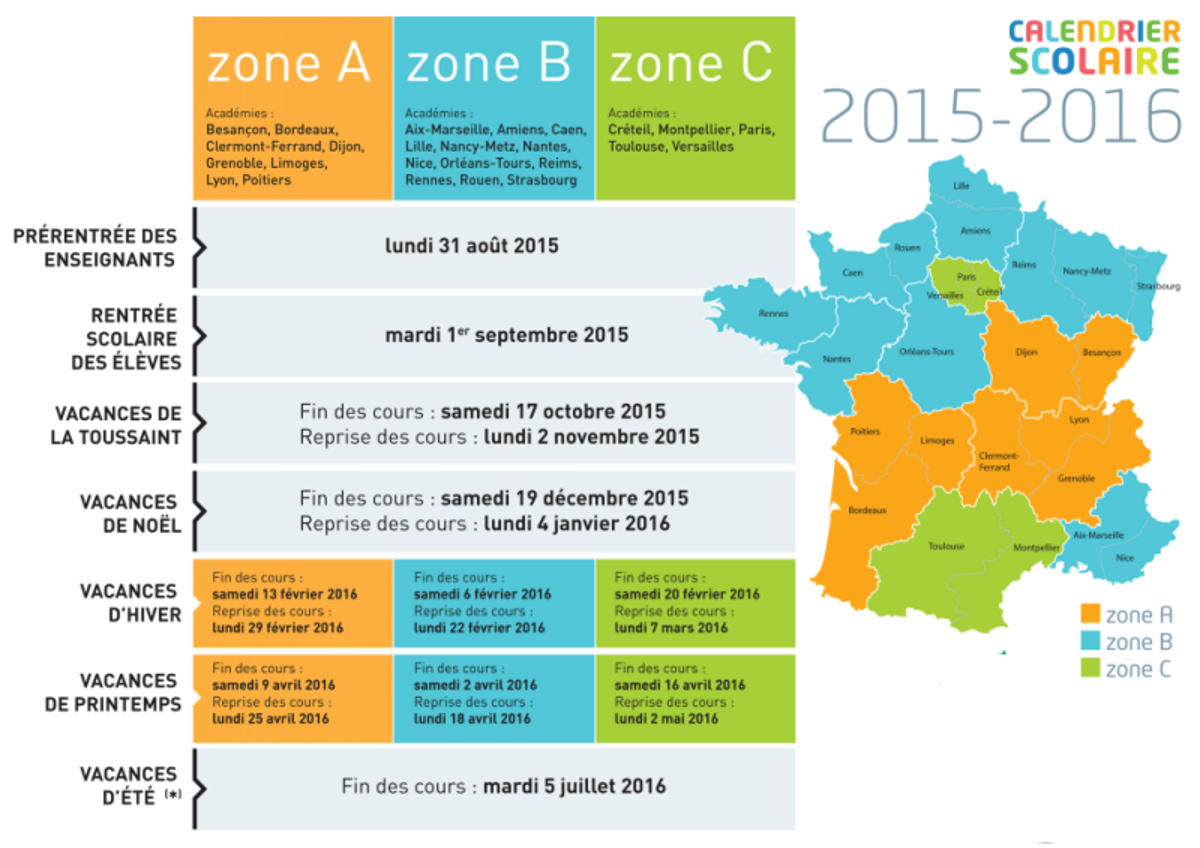 vacances scolaires 2016 search results calendar 2015. Black Bedroom Furniture Sets. Home Design Ideas