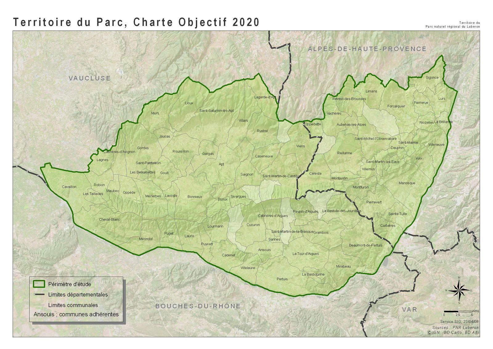 Carte Du Parc Naturel Regional Luberon
